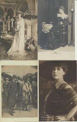 4 ROMANIA Royalty RPPC Carol Maria LOT 19