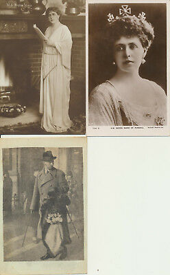 3 ROMANIA Royalty RPPC Carol Maria Marie LOT 20