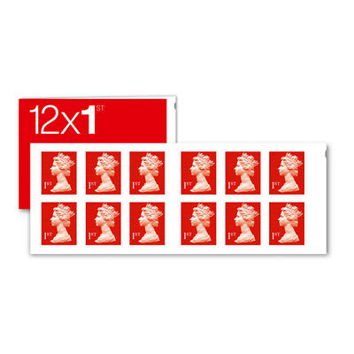 12 New 1st First Class Stamps Royal Mail Postage First Book/Sheet