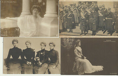 4 ROMANIA Royalty RPPC Ferdinand Maria Marie Princesses Gimm LOT 21