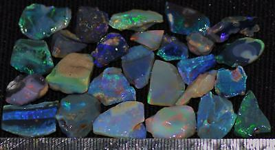 100 Cts Solid Gem Quality Lightning Ridge Rough And Rough Rubbed Opal Parcel 47