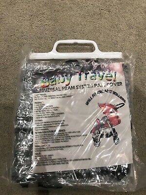 Universal Baby Buggy Pushchair Pram Transparent Raincover - BRAND NEW NO RESERVE