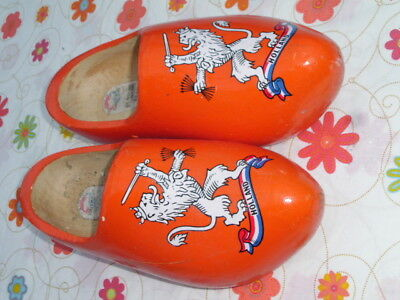 Clogs Botten Holzschuhe Holland Souvenier orange Gr.35 23cm