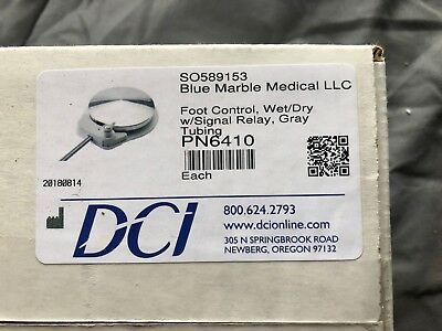**NEW*** DCI Foot Control, Wet/Dry w/Signal Relay - Gray Tubing (DCI 6410)