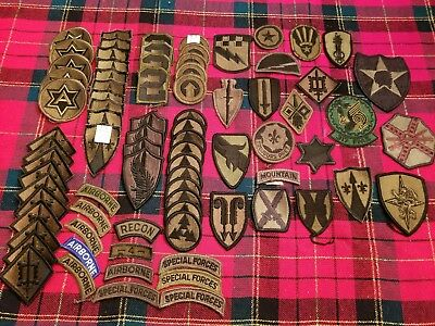 Vintage Lot of (80) U.S Army Military Patches NO RESERVE