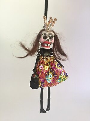 Halloween* Day of the Dead * Dia de los Muertos* Funny Skeleton Doll Ornament