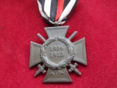 "Ww1 German Front Fighter Cross Medal ""g10"" Maker"
