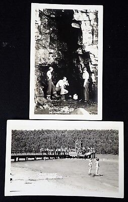 (2) RPPCs MT MAGAZINE COVE LAKE DRIPPING SPRINGS ARKANSAS REAL PHOTO