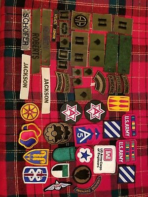 Vintage Lot of (50+) U.S Army Military Patches NO RESERVE