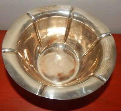 Sterling Silver Bowl With Profile Edges Marked Ly524 Sterling