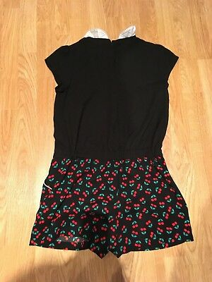 M&S Girls Black Playsuit Size 11-12 years