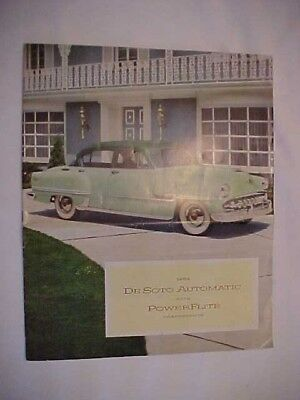 1954 DeSoto Advertising Brochure, Large size, 10-pages, Full Color, Excellent!!