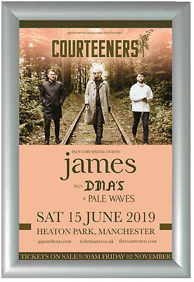 Framed Event Poster Gig Tour The Album Cover Band Merchandise Courteeners Print