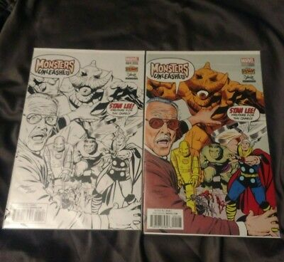 Marvel Monsters unleashed Stan Lee Exclusive Covers