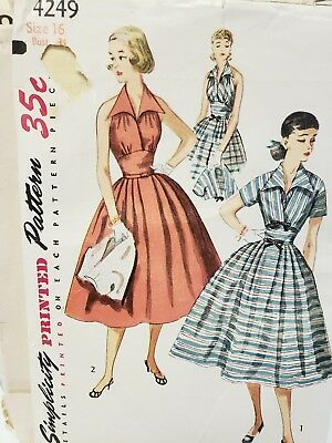 Vintage dress sewing patterns lot of 8. Sizes 6 to 20.