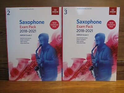 Two Saxophone Exam Packs 2018-2021 ABRSM Grade 2 & 3   New combined pack  NEW