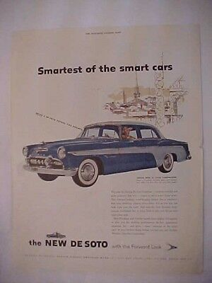 1955 Large size, full page advertisement for the New DeSoto, NICE!