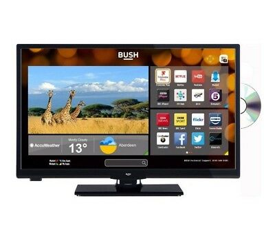 Bush 24 Inch HD Ready 720p Freeview Play Smart WiFi LED TV/DVD Combi - Black