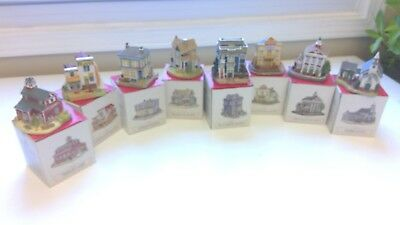 LIBERTY FALLS Americana Collection Lot of 11 Buildings *Slightly Used in Box*