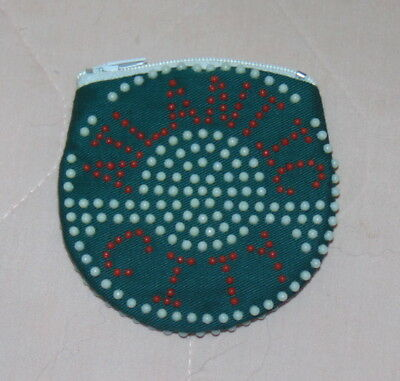 Vintage Ladies Beaded Coin Purse Atlantic City NJ Souvenir