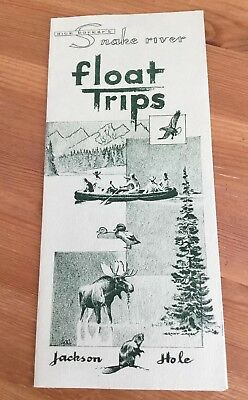 Vintage Dick Baker's SNAKE RIVER FLOAT TRIP JACKSON HOLE BROCHURE. MUST SEE!