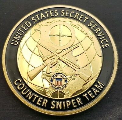 US SECRET SERVICE COUNTER SNIPER TEAM Challenge Coin FREE COIN STAND AND BRAND N