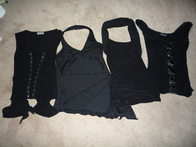 One Lot Of Four Black Ladies Tops, Size Small/medium