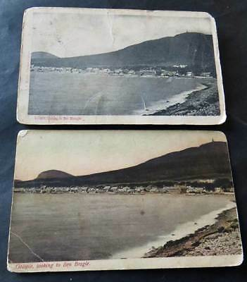 GOLSPIE 2 Damaged Postcards c1903 Message in French