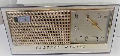 Vintage Sanyo Channel Master 8 Transistor Super Fringe Radio W/ Leather Case