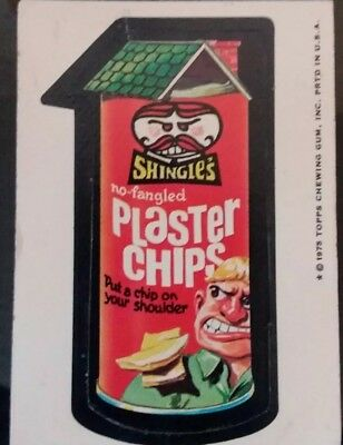 1975 Topps Wacky Packages 15th Series  SHINGLE'S PLASTER CHIPS