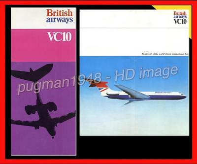 BRITISH AIRWAYS c1974 AIRLINE BROCHURE...Vickers VC-10 with CUTAWAY