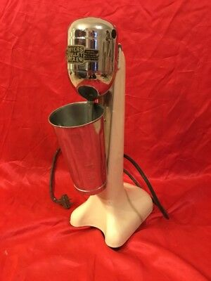 Vtg MYERS BULLET S-17886 Shake/Malt Mixer Cream White Base