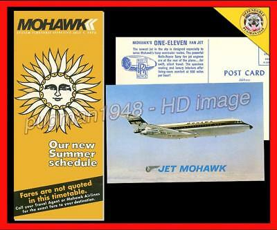 MOHAWK AIRLINES 1970 AIRLINE TIMETABLE SCHEDULE...Plus 2 Mohawk Extras