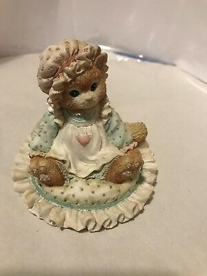 """Vintage Enesco Calico Kittens """"Just Thinking About You"""" 1992 P. Hillman #627917"""