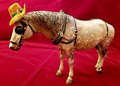 Vintage Breyer Old Timer Work Horse Dapple Gray Traditional Draft With Hat