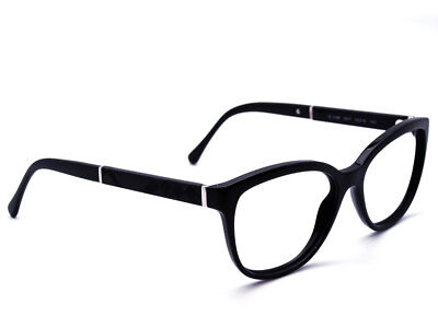 988ec2ebf1cc Burberry Eyeglasses B 2166 3001 Black Plaid Cat Eye Frame Italy 54  16 140