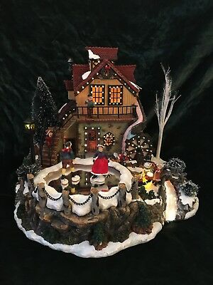 Fiber Optic Animated Mill Scene Lighted Christmas Village Christmas Decor Costco