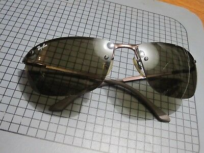 1348e76c063 HTF RAY-BAN RB3187 Top Bar Big Green Lens Wrap Sunglasses Italy ...