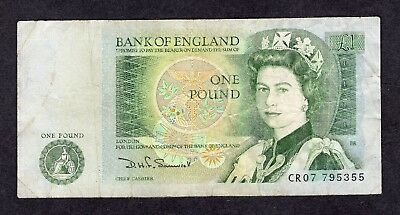 1980s Great Britain 1£ Pound QEII Banknote England UK Money Bill Newton on Back