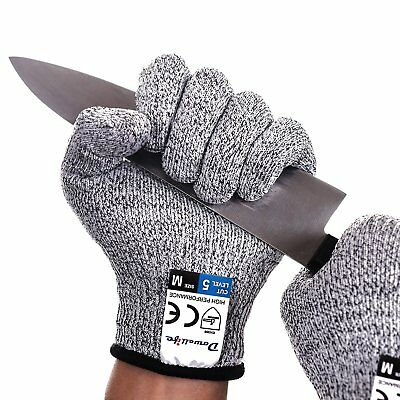 Dowellife Cut Resistant Gloves-Food Grade Level 5 Protection, Kitchen SIZE M