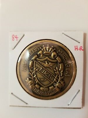 1984 Krewe of Shangri-la Antique Bronze Doubloon