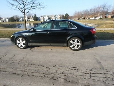 2003 Audi A4 leather Audi A4 2003 V-6 Quattro Auto Leather Black Sunroof  ONE OWNER