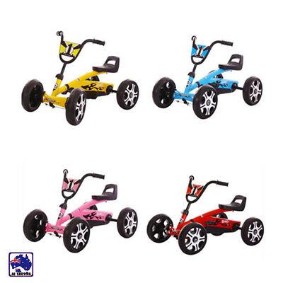 Kids Pedal Powered Go Kart Ride on Car Children Toddler Toy 4 Color Gift BCK0257