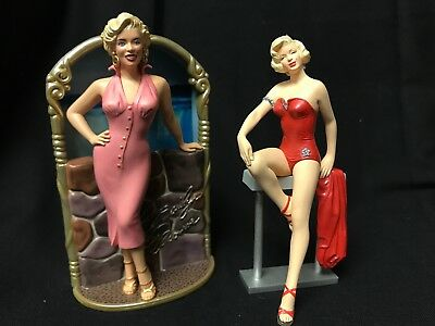 Pair of Vintage Marilyn Monroe Christmas Ornaments, Hallmark/Carlton Cards