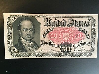 1874 50 Cent Fractional Currency * 5th Issue * William H Crawford