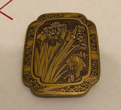 Japanese Brass Belt Buckle Kimono Japan Small Vintage