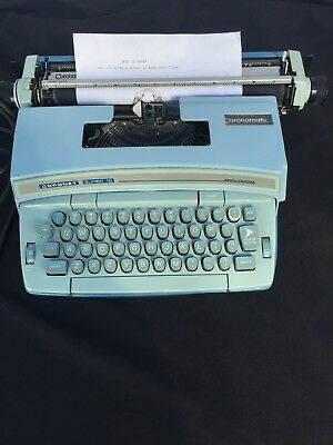 Smith Corona Coronet Super 12 Electric Typewriter Baby Blue - Mint Works Great