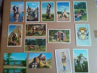 pre 1935  buffalo bill cody and native american tribal postcards rppc, litho