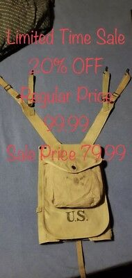 WW1 US haversack w/meat can pouch