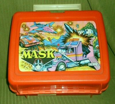 Vintage Thermos M.A.S.K. MASK Lunch Box